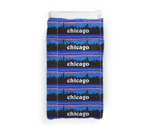 Chicago, skyline silhouette Duvet Cover