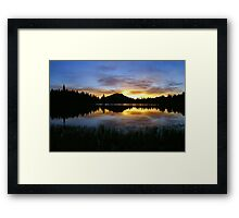 Sprague Lake Dawn Reflections Framed Print