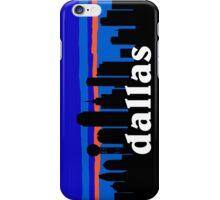 Dallas, skyline silhouette iPhone Case/Skin