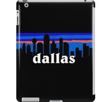 Dallas, skyline silhouette iPad Case/Skin