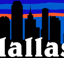Dallas, skyline silhouette Sticker