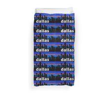 Dallas, skyline silhouette Duvet Cover