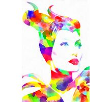 Maleficent in Watercolor Photographic Print