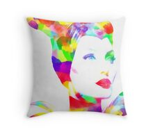 Maleficent in Watercolor Throw Pillow