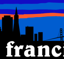 San Francisco, skyline silhouette Sticker