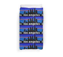 Los Angeles, skyline silhouette Duvet Cover