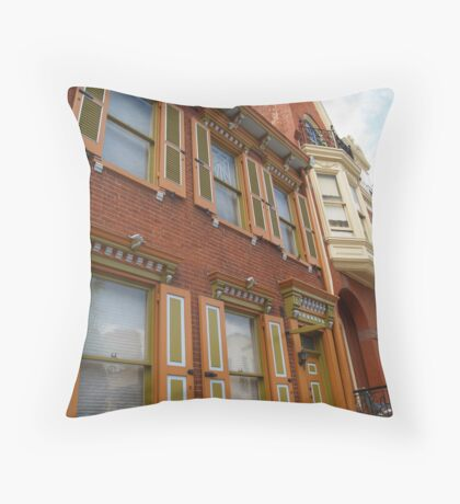 Homes on Prince Street, Lancaster, PA Throw Pillow