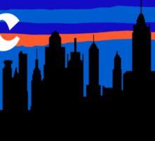 NYC, skyline silhouette Sticker