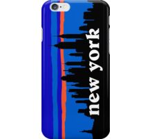 New york, skyline silhouette iPhone Case/Skin
