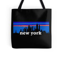 New york, skyline silhouette Tote Bag