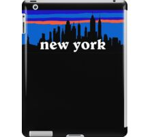 New york, skyline silhouette iPad Case/Skin