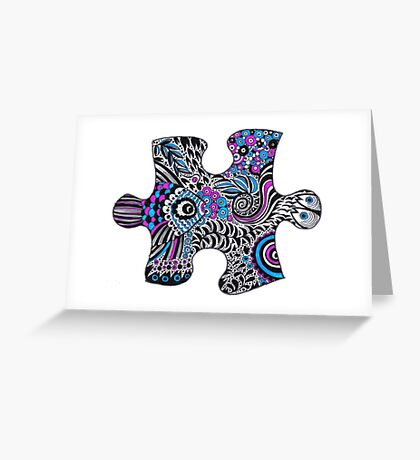 Fishy bubbles in a puzzle Greeting Card