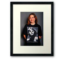 Kai-Marie Williams in Retro Liz T-Shirt Framed Print