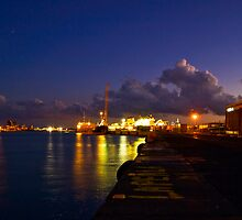 lights at the port of Catania by Andrea Rapisarda