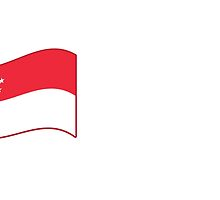 Flying flag of Singapore by jazzydevil