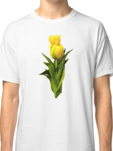Yellow Tulips Tall and Short Classic T-Shirt