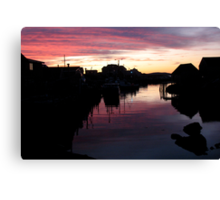 Peggy's Cove Silhouette Canvas Print