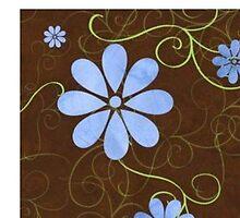 Floral Design Step Tiles - Séries de carreaux de sol de conception florale  by James  Chirst