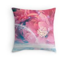 Starlit Peony Throw Pillow