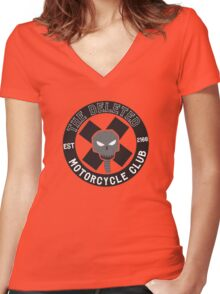 Angrybot: The Deleted Motorcycle Club Women's Fitted V-Neck T-Shirt