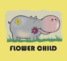 Hippo Flower Child Kids Tee