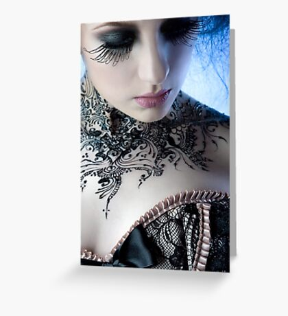 Black Lace - Ulorin Vex Greeting Card