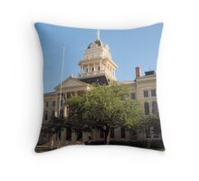 Bell Co. Courthouse, Belton, Tx. 1884 Throw Pillow
