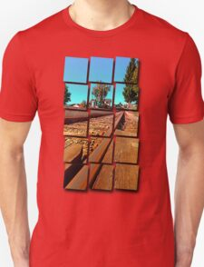 Rails heading to nothing particularly interesting | transportation photography T-Shirt