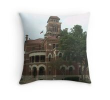 Gonzales Co. Courthouse, Gonzales, Tx. 1894 Throw Pillow