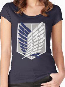 SNK SURVEY CORPS EMBLEM Women's Fitted Scoop T-Shirt