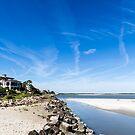 Blue Sky Over Beach by dbvirago