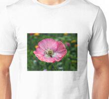 Pink Papaver rhoeas Unisex T-Shirt