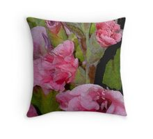 FRAGMENTED FLORAL EXPRESSION Throw Pillow