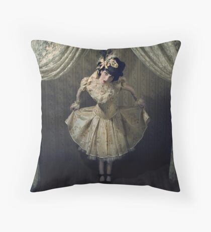 New Year Doll Throw Pillow