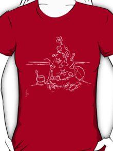 Australian Christmas Lineart Tee T-Shirt