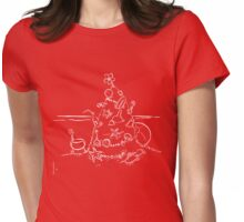 Australian Christmas Lineart Tee Womens Fitted T-Shirt