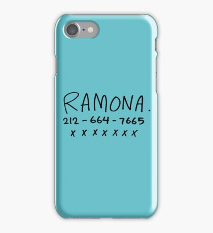 her name is ramona iPhone Case/Skin