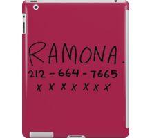 her name is ramona iPad Case/Skin