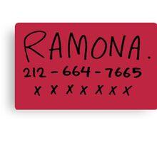 her name is ramona Canvas Print