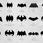 the evolution of batman logos  by 11grim