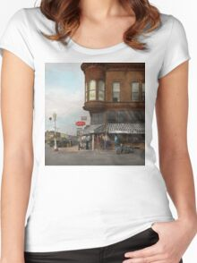 City - Dillon, Montana - Today's my day off - 1942 Women's Fitted Scoop T-Shirt