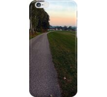Country road into dawn | landscape photography iPhone Case/Skin