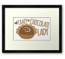 Crazy Chocolate lady Framed Print