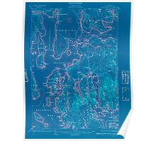 Maine USGS Historical Map Mount Desert 807576 1904 62500 Inversion Poster
