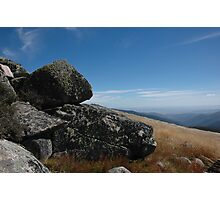 Mt Stirling summit - Victorian High Country Photographic Print