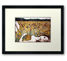 Amy Loves Yellow Framed Print
