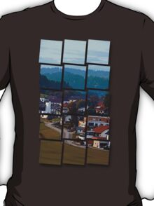 Autumn season village panorama | landscape photography T-Shirt