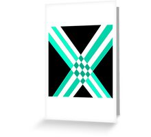 Intersections in turquoise black variation Greeting Card