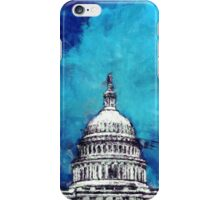 Stormy Weather Over The Capitol iPhone Case/Skin