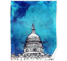 Stormy Weather Over The Capitol Poster
